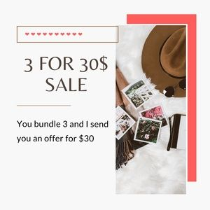 Bundle Any 3 For $30